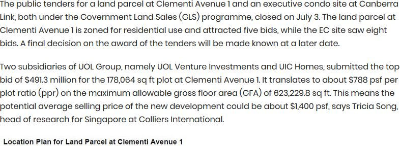 clavon-UOL-submits-top-bid-of-$491.3mil-for-Clementi-Ave-1-GLS-site-1