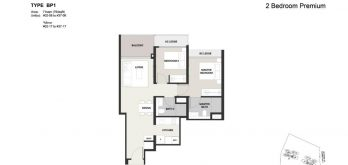 Clavon-2bed-Premium-Floor-Plan-Type-BP1