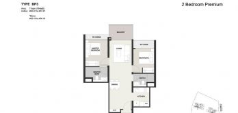Clavon-2bed-Premium-Floor-Plan-Type-BP3