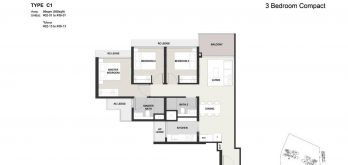 Clavon-3bed-Floor-Plan-Type-C1