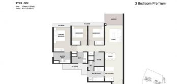 Clavon-3bed-Premium-Floor-Plan-Type-CP2