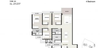 Clavon-4bed-Floor-Plan-Type-D1